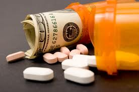 dollars in pill bottle