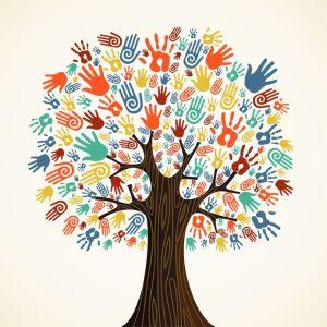tree w hands